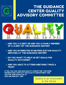Join The Guidance Center's Quality Advisory Committee
